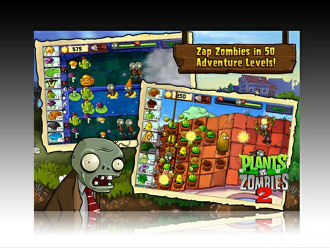 Plants vs Zombies 2: Force all zombies in your home.!